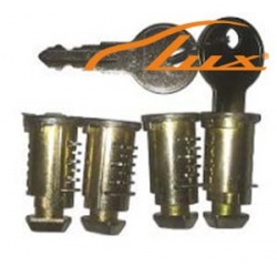 Набор личинок с ключами багажной системы LUX (4 шт