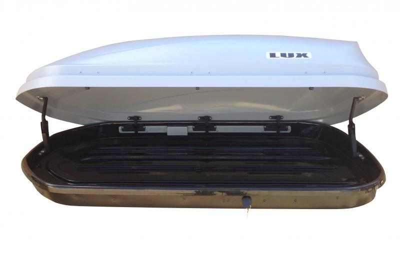 Бокс LUX600 440L серый металлик 1600х920х400 с двустороним открыванием.