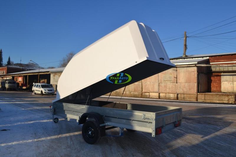 Легковой прицеп Трейлер 829450 (3430*1490) с пластиковой крышкой