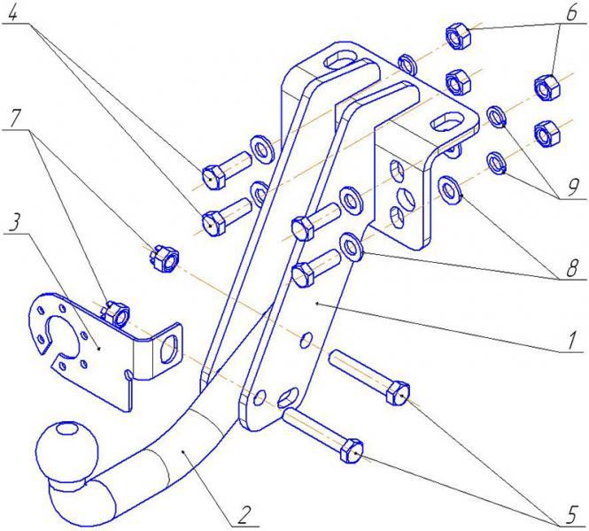 Фаркоп УАЗ 23632 Пикап UAZ-06 Автос